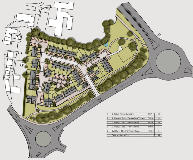 Planning Application for 49 Houses